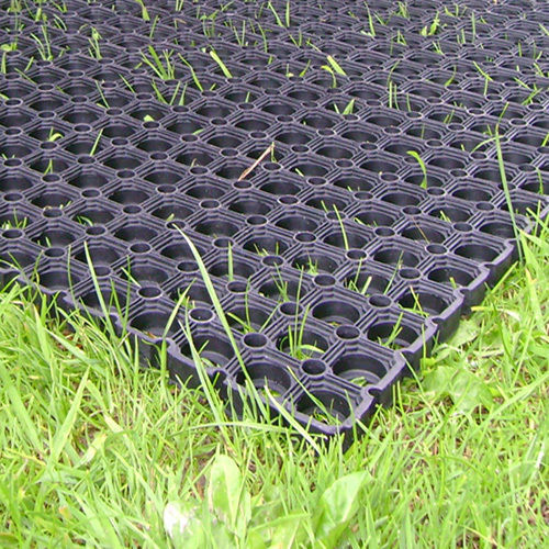 Heavy Duty Rubber Grass Mat Outdoor Safety Flooring For