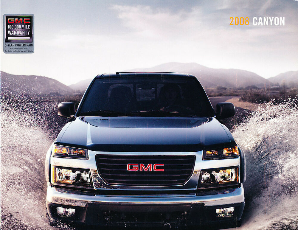 2008 gmc canyon truck 30 page sales brochure catalog ebay. Black Bedroom Furniture Sets. Home Design Ideas