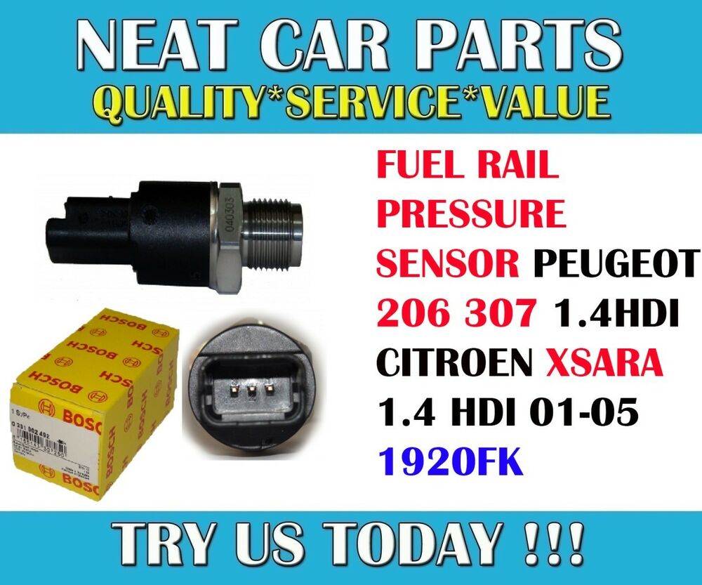 fuel rail pressure sensor for peugeot 206 307 citroen xsara 1 4 hdi 01 05 1920fk ebay. Black Bedroom Furniture Sets. Home Design Ideas