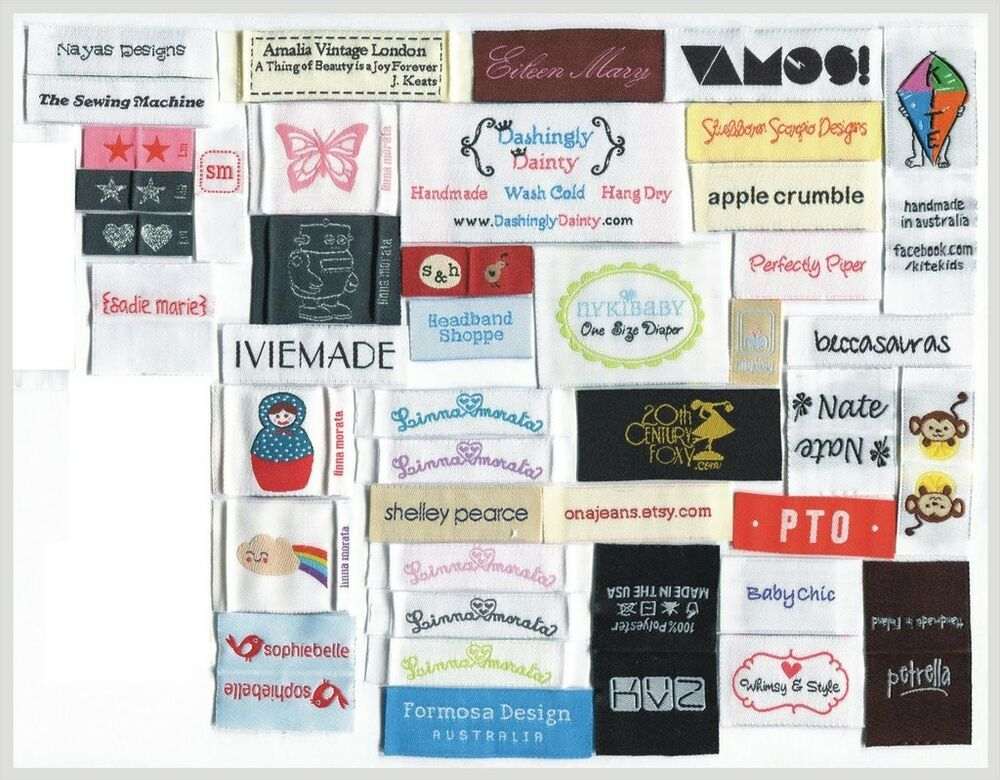 2400 Custom Artwork Woven Labels Personalized Clothing