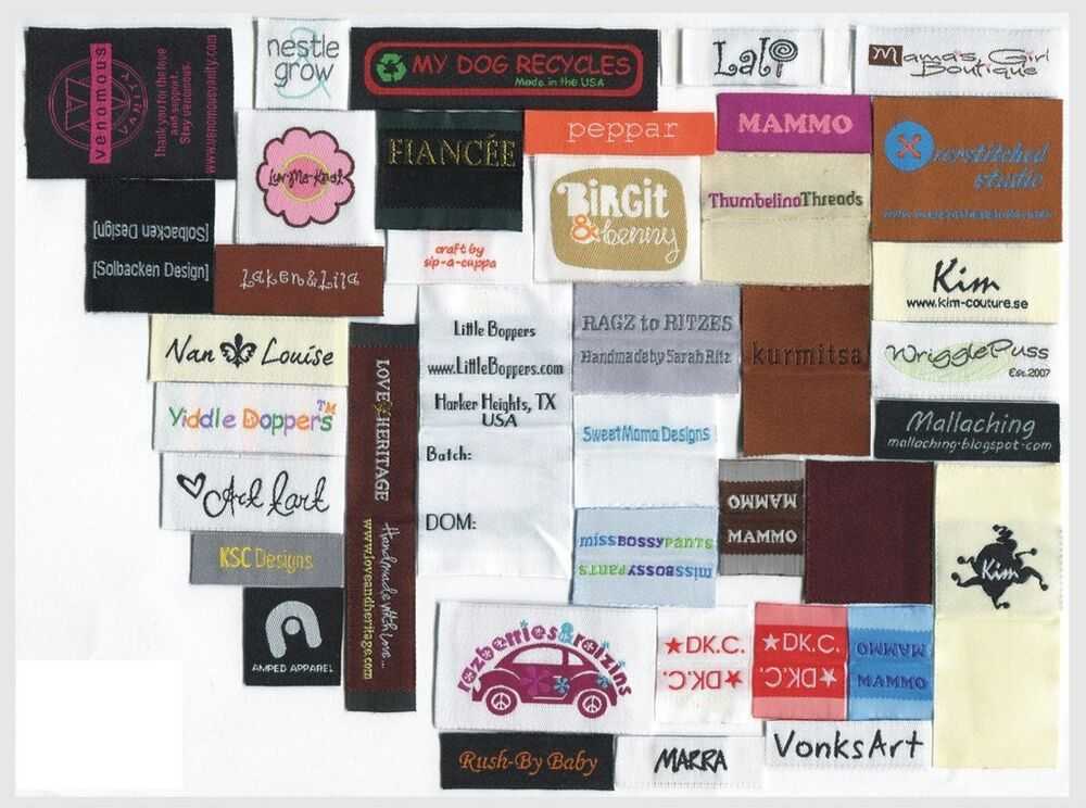 2400 Custom Text Only Woven Labels Personalized Clothing