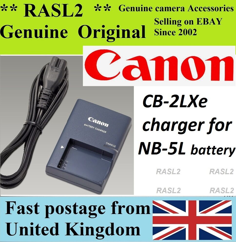 Genuine Original Canon Charger Cb 2lxe Nb 5l Powershot