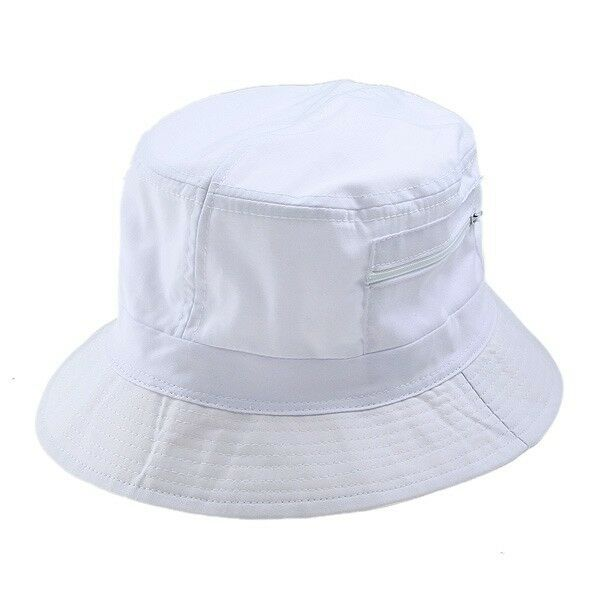 Ladies Bucket White Cotton Sun Hat Beach Sun New Ebay