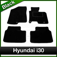Tailored Fitted Carpet Mats HYUNDAI i30 (2012 ...) Black