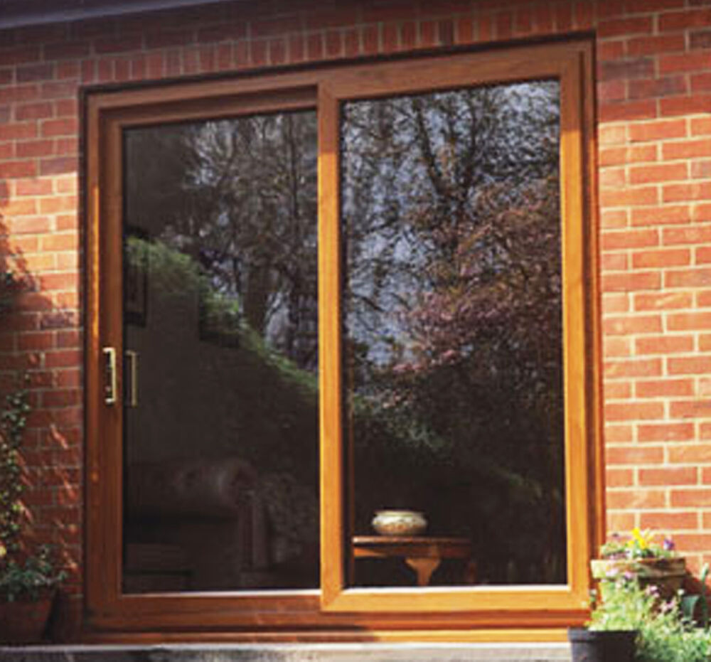 Upvc sliding patio doors light oak brand new not flat for Upvc balcony doors