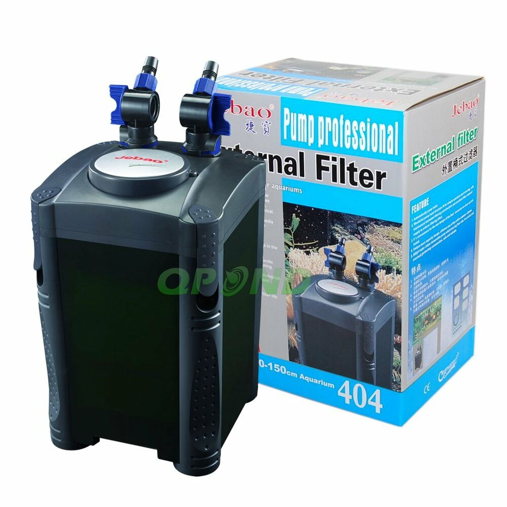 Jebao 4 stage external aquarium fish tank canister filter for Fish tank filtration