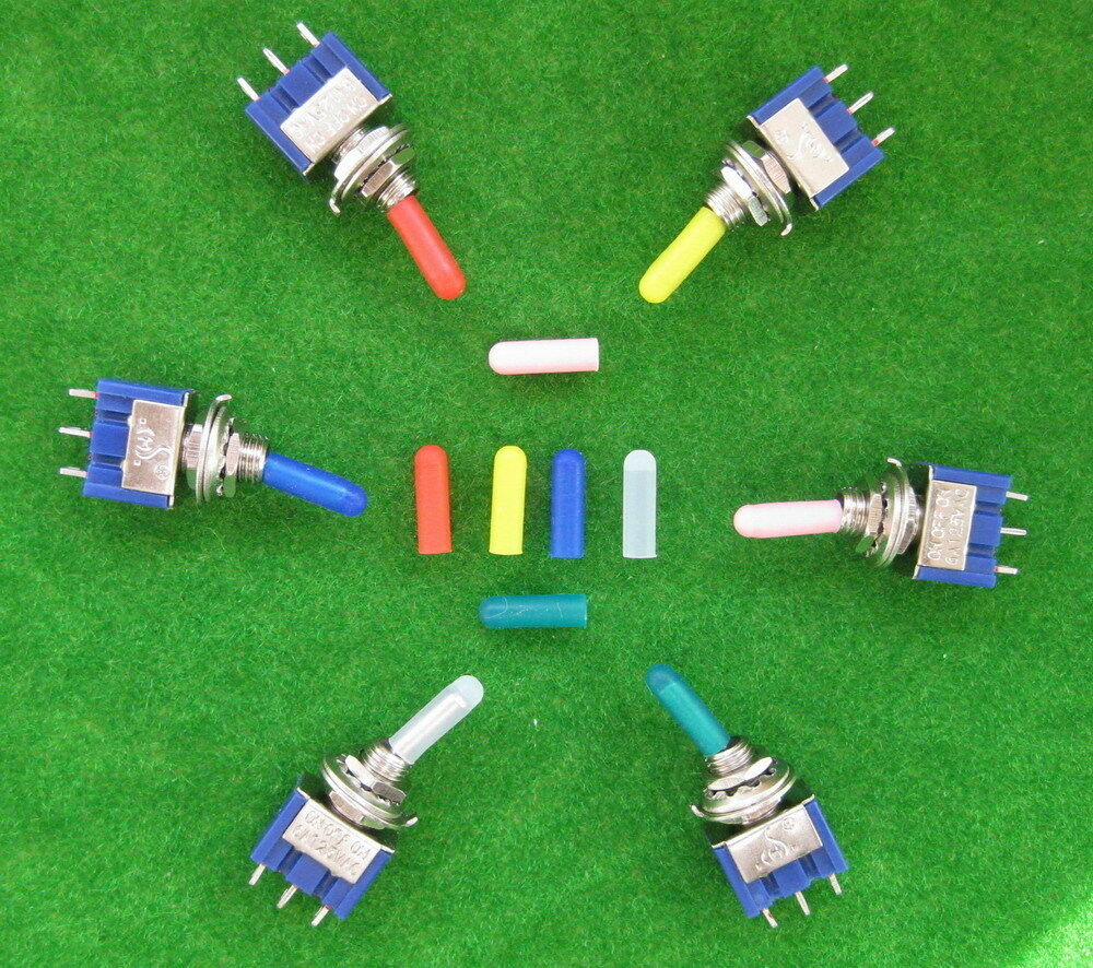 Xpt03 150pcs Miniature Toggle Switch Covers Mixed Color