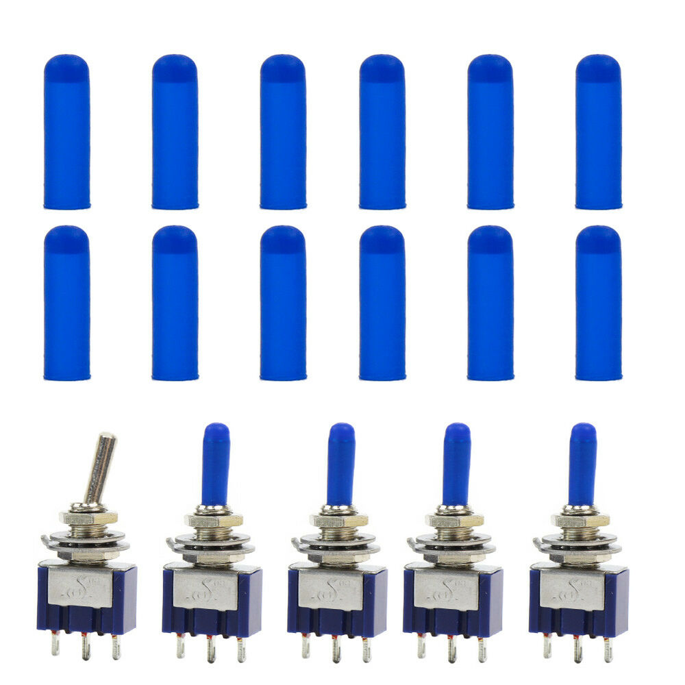 Xpt03b 100pcs Miniature Blue Toggle Switch Covers New Ebay