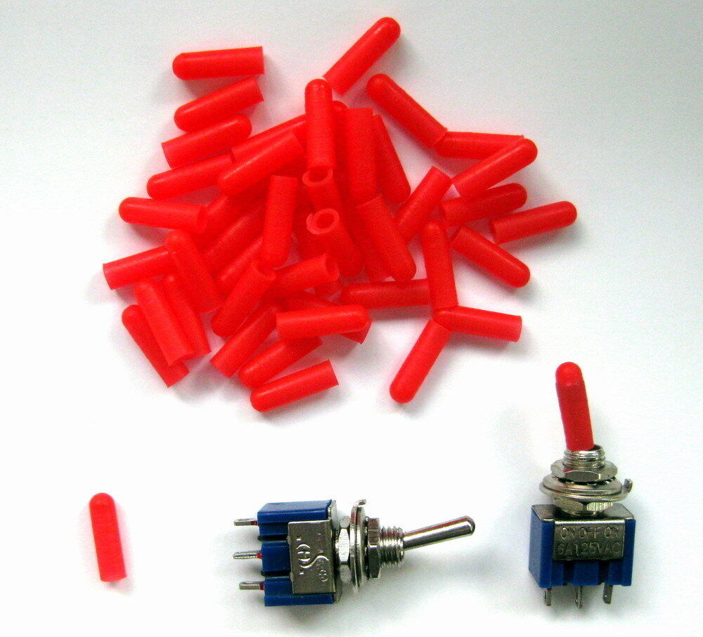 Xpt03r 100pcs Miniature Red Toggle Switch Covers New Ebay