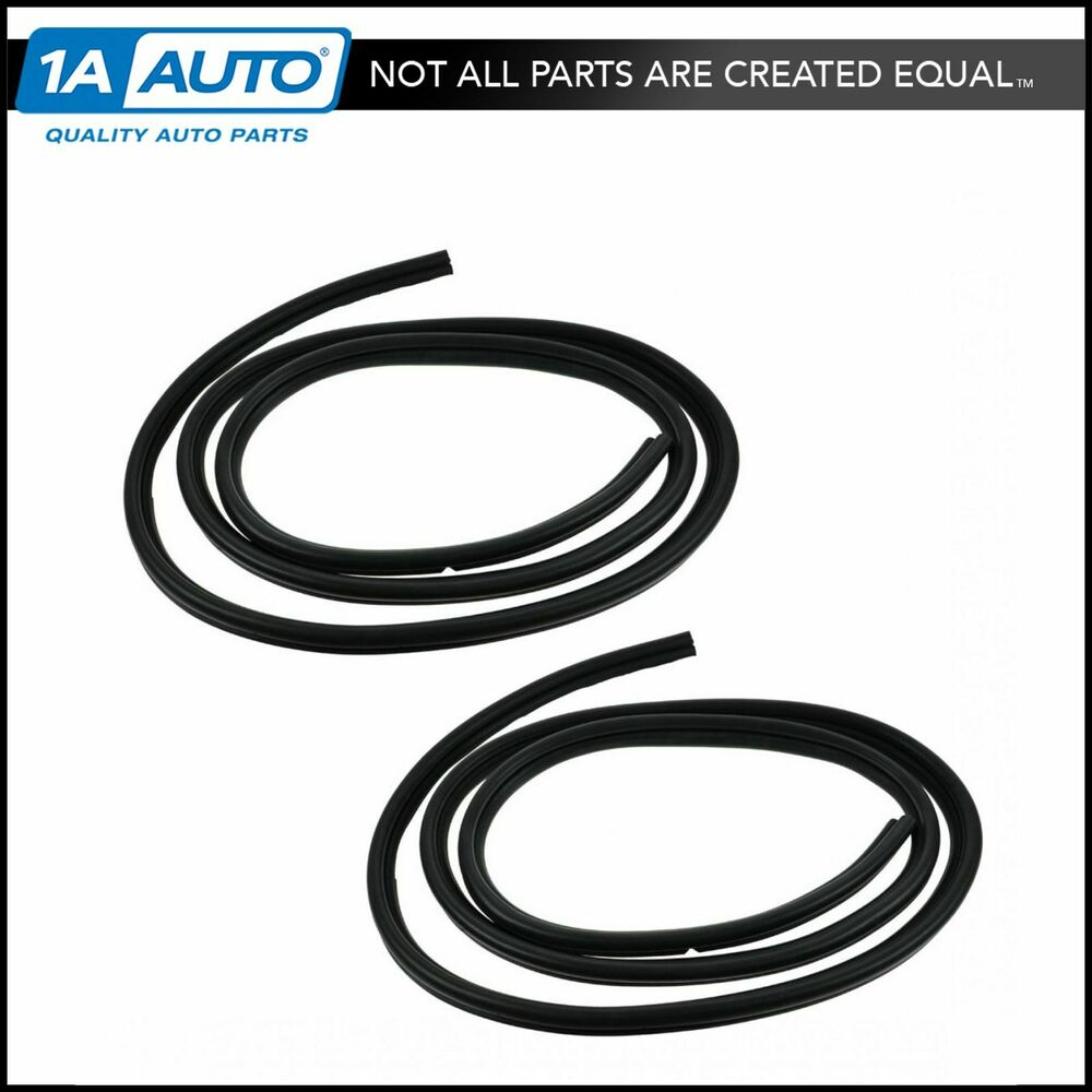 Front Door Weatherstrip Weather Strip Seals Pair Set L R