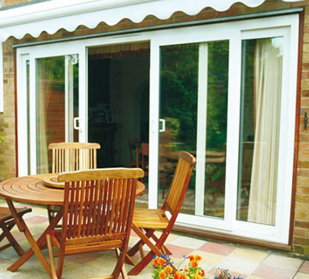 Upvc 4 pane sliding patio doors made to measure 3700mm for Wide sliding patio doors