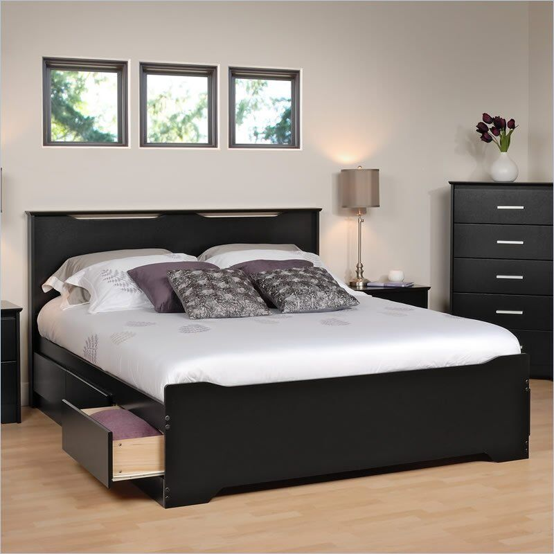 Full Mate S Platform Storage Bed With  Drawers White