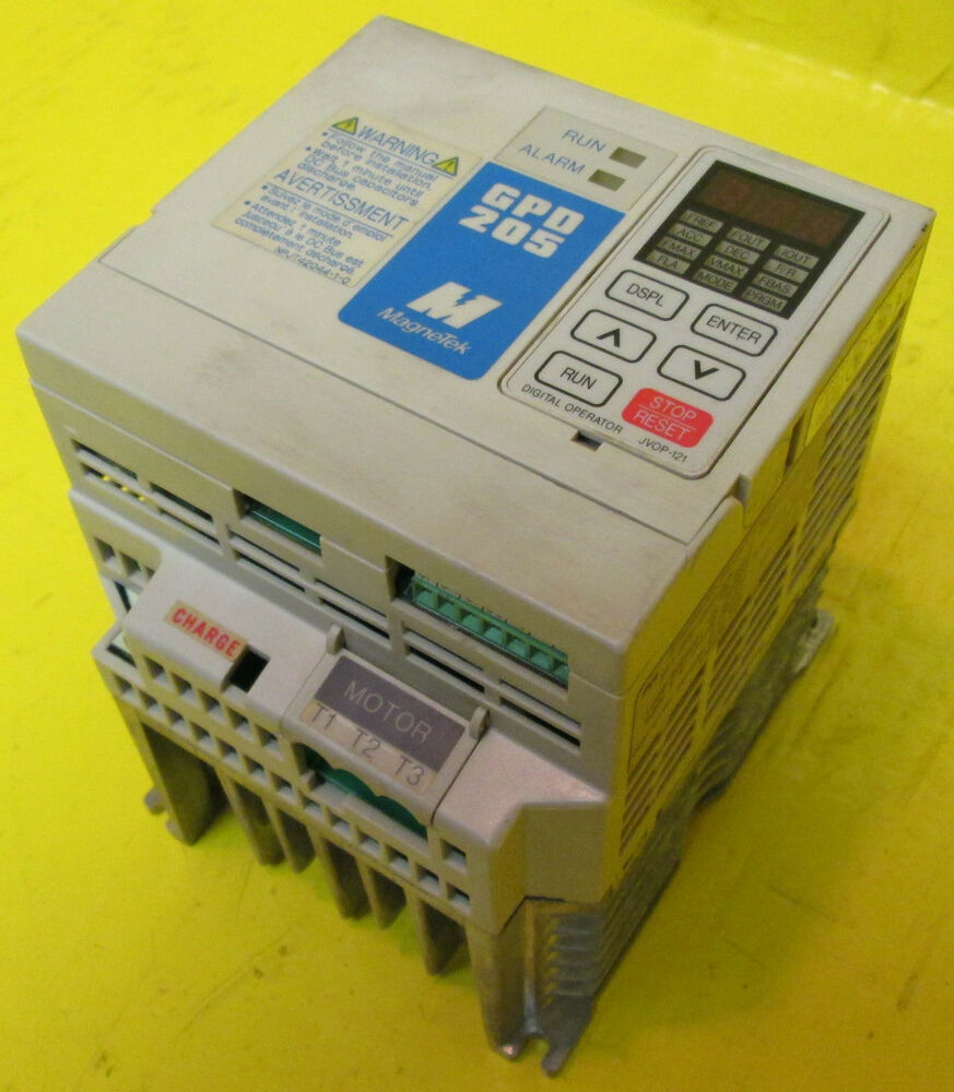 Magnetek 2 hp 3 4 amps gpd205 b001 gpd 205 vs variable for 3 phase motor hp to amps