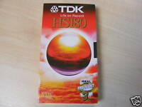 3 HOUR TDK VHS E180 BLANK VIDEO VCR TAPE CASSETTE - NEW