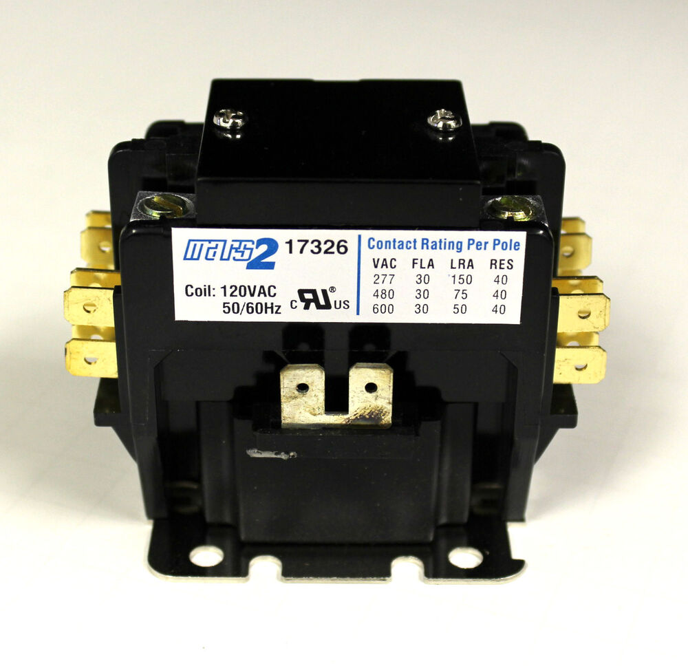 New 30 Amp 2 Pole 120 Vac 120v Definite Purpose Contactor