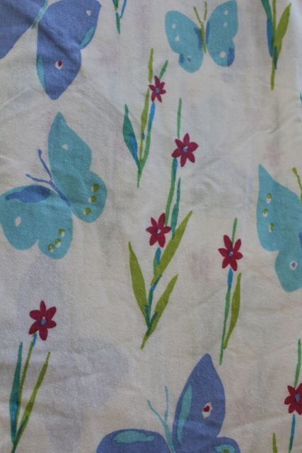 Twin Jersey Knit Spring Butterfly Blue T Shirt Fabric