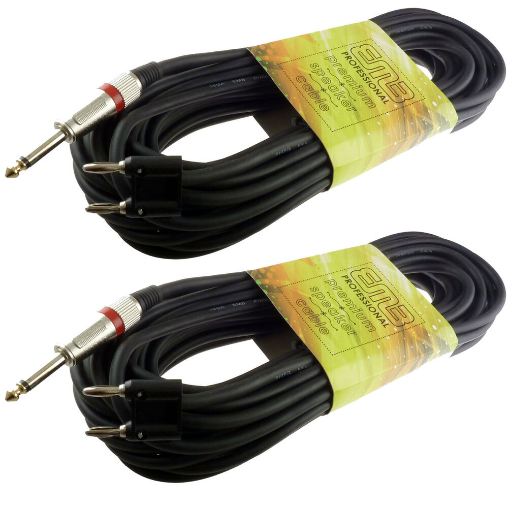 2x 1 4 mono to banana plug dj speaker cable 25 39 ft feet free usa shipping 2 pc ebay. Black Bedroom Furniture Sets. Home Design Ideas
