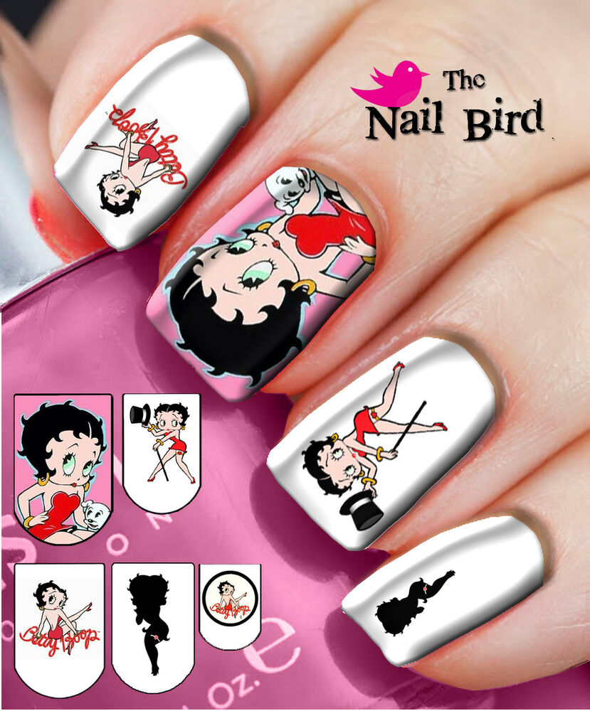Betty Boop Nails: 20 Mixed Set ICONIC BETTY BOOP Nail Waterslide Decals Nail