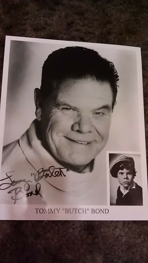 tommy butch bond signed 8x10 our gang photo