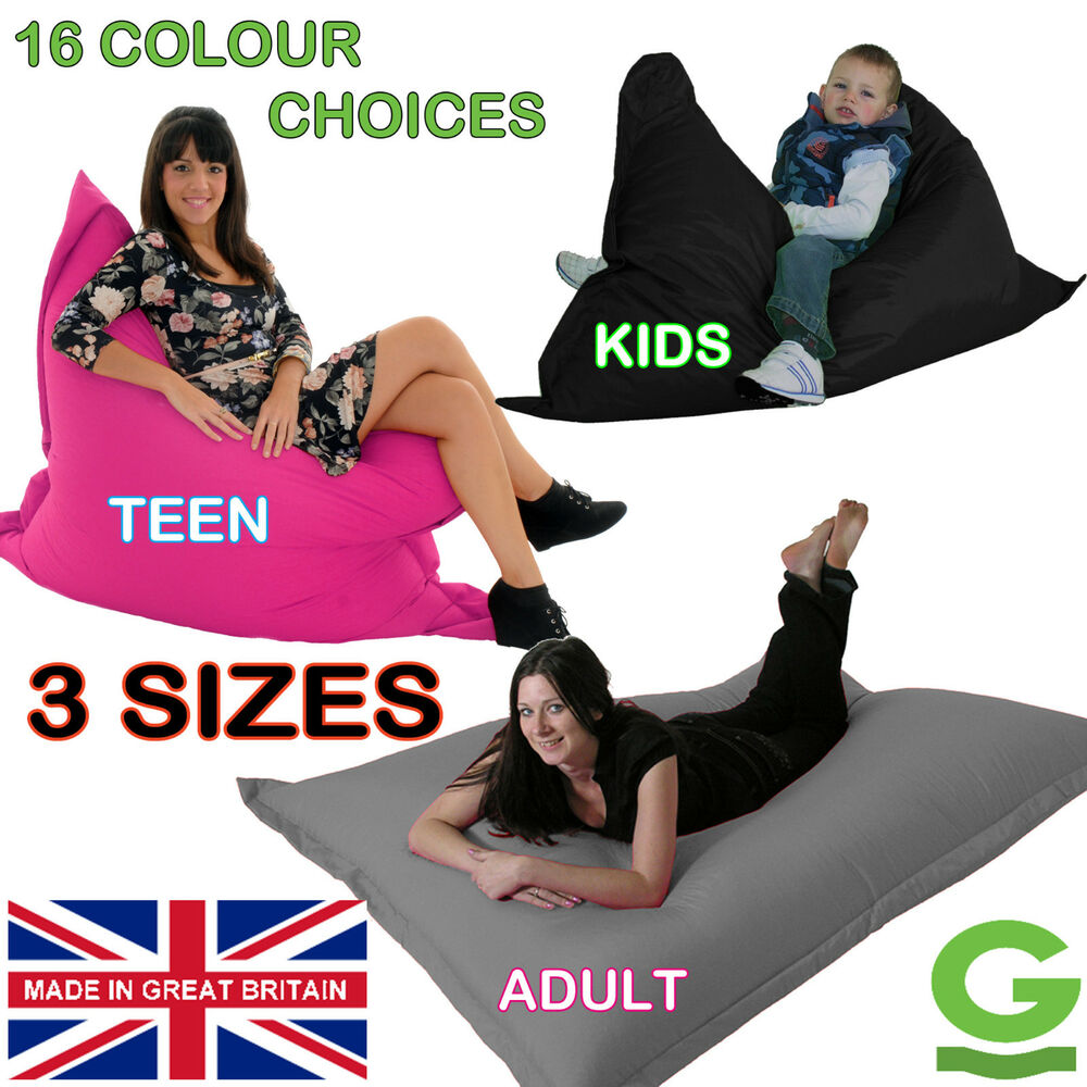 Big Floor Cushion Bean Bag Giant Beanbag Gaming Lounger