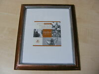 "CASCADE BRONZE & SILVER 8x10 INCH (20x25 CM) MOUNTED (5x7 "") PHOTO FRAME - NEW"