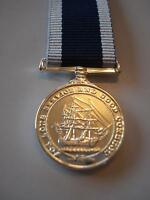 LSGC Miniature Medal, Royal Navy Long Service Good Conduct, E11R, Army, Military