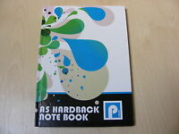 A5 HARD BACK NOTE PAD / NOTEPAD BOOK WITH 80 LINED WHITE PAGES (160 SIDES)
