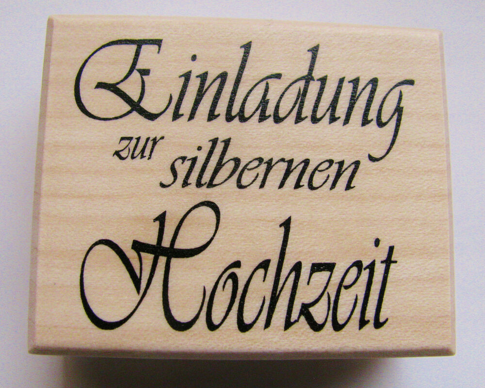 stempel einladung silbernen hochzeit karten. Black Bedroom Furniture Sets. Home Design Ideas