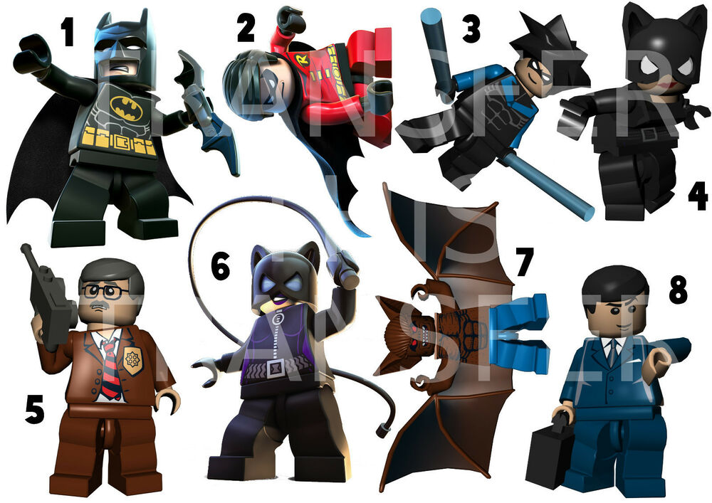 Batman lego sticker wall deco robin james gordon bat cat woman nightwing lot lh ebay