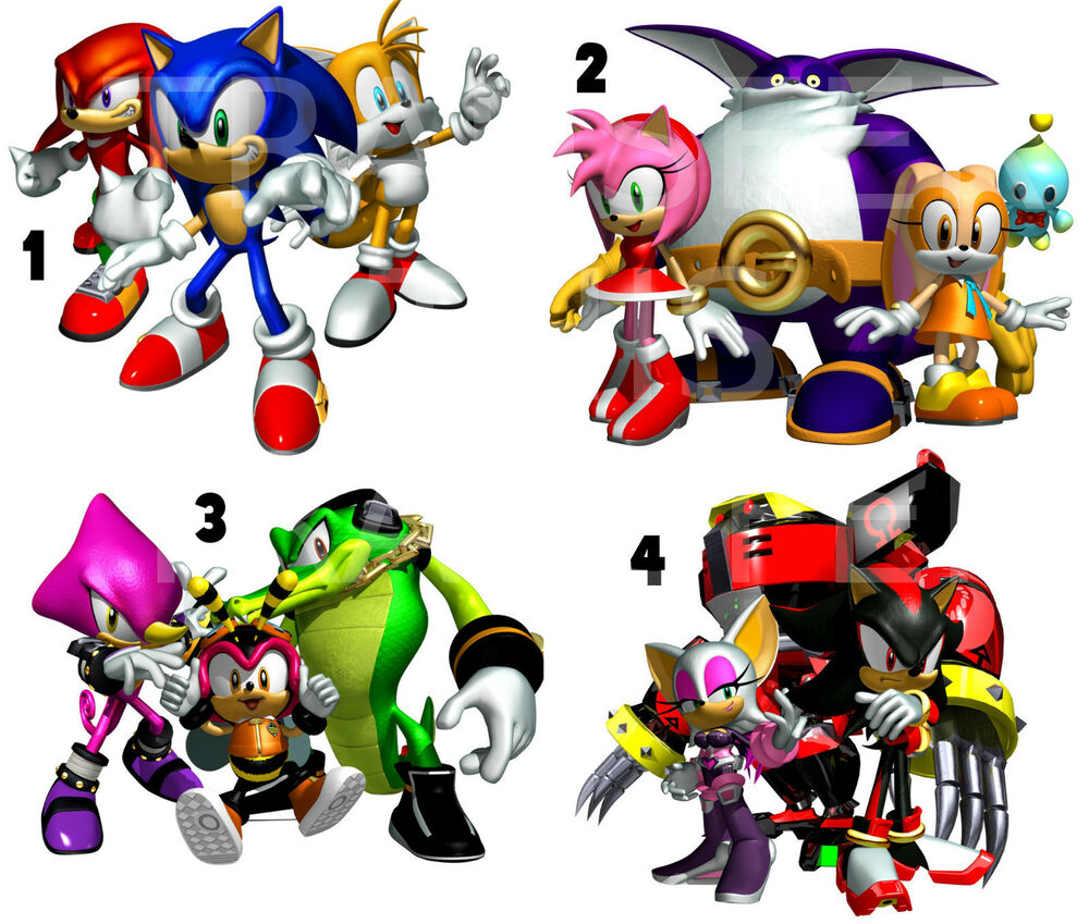 Sticker wall deco sonic the hedgehog and friends lot s4 ebay - Sonic wall decals ...