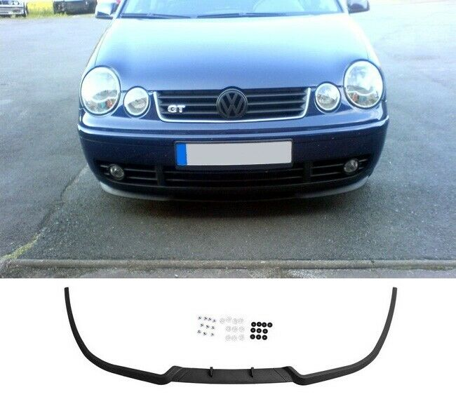 vw polo 9n mk4 4 gti cup front bumper cup chin spoiler lip. Black Bedroom Furniture Sets. Home Design Ideas