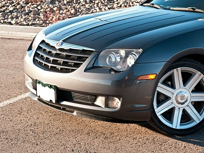 chrysler crossfire front bumper cup chin spoiler lip. Black Bedroom Furniture Sets. Home Design Ideas