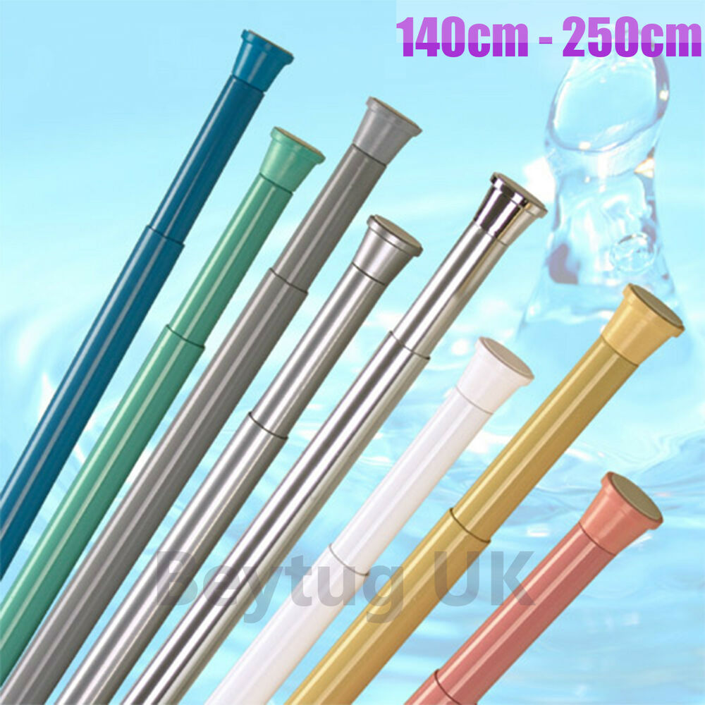 Shower Curtain Rod Spring Loaded Angled Shower Curtain Rod
