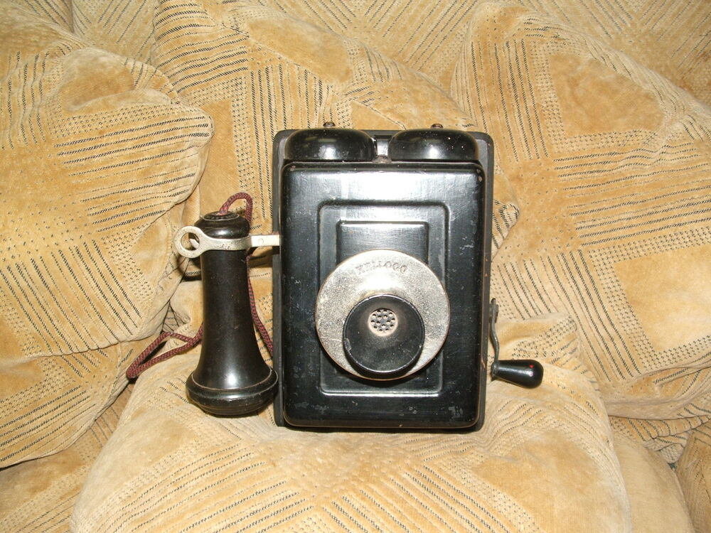 Antique collectible vintage kellog wall crank phone ebay for Valuable antiques and collectibles