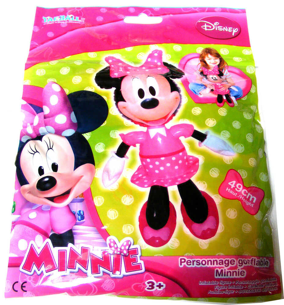 kids disney minnie mouse blow up inflatable plastic toy doll 49cm when inflated ebay. Black Bedroom Furniture Sets. Home Design Ideas