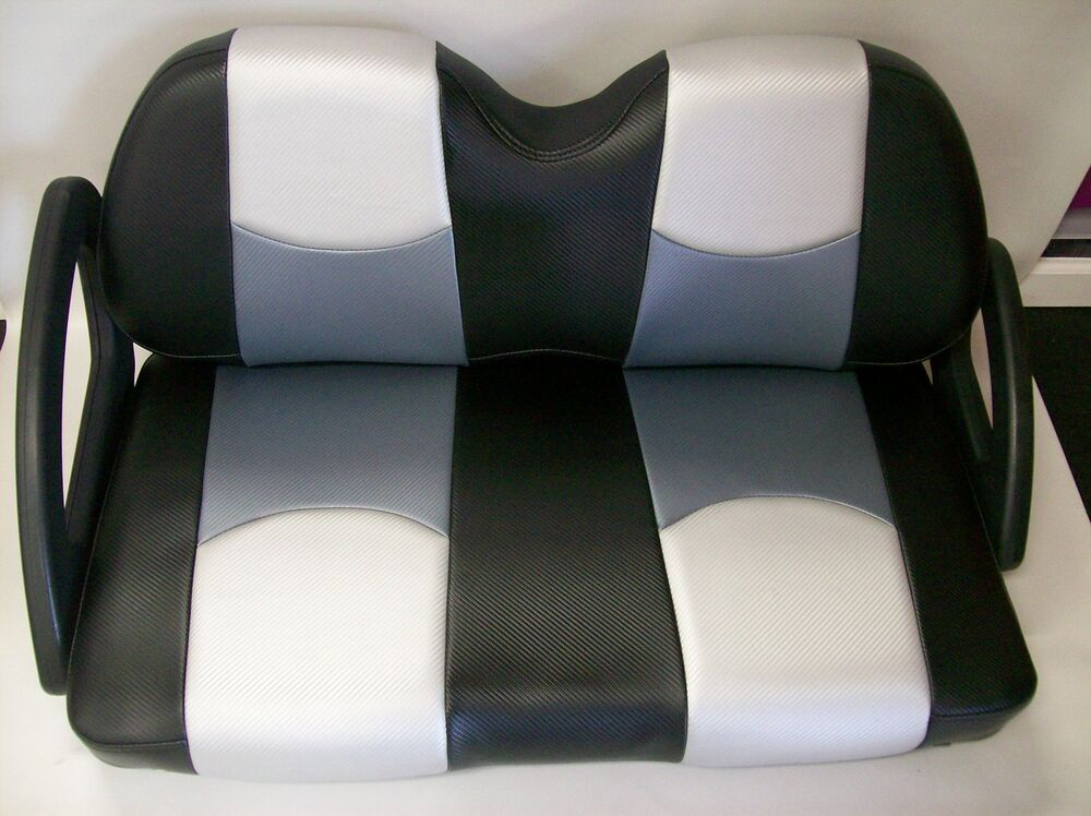 ez go txt golf cart front seat replacement custom seat covers set 3 color cf ebay. Black Bedroom Furniture Sets. Home Design Ideas