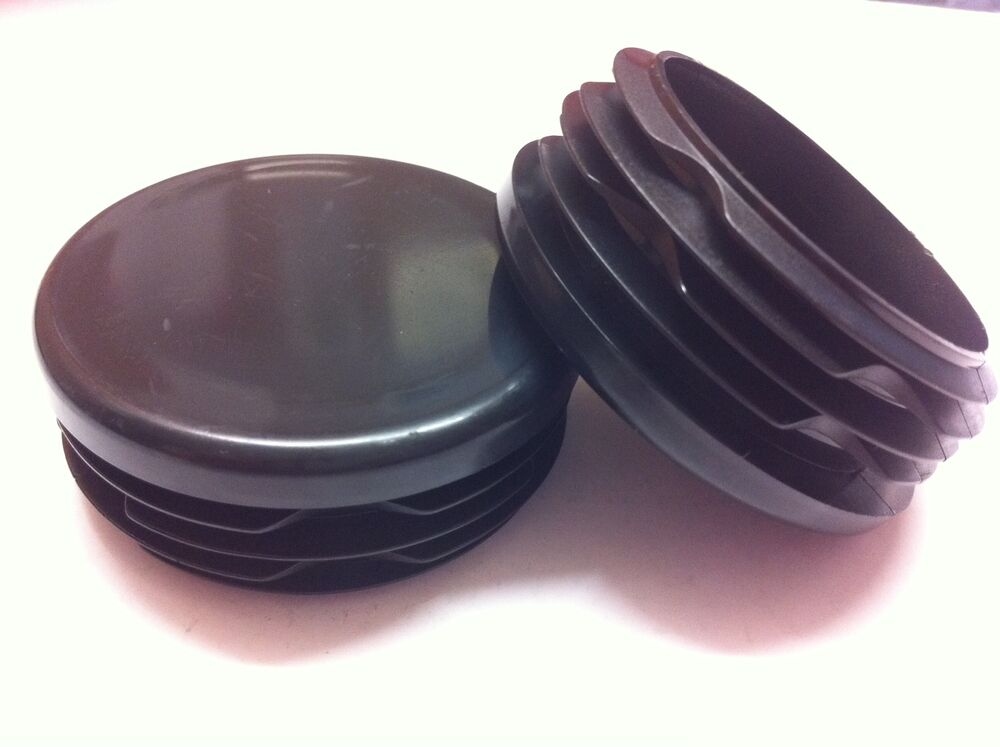 Plastic black blanking end caps round tube pipe