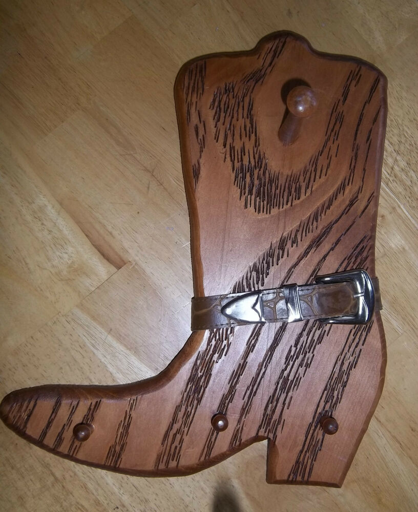 how to build a cowboy boot rack