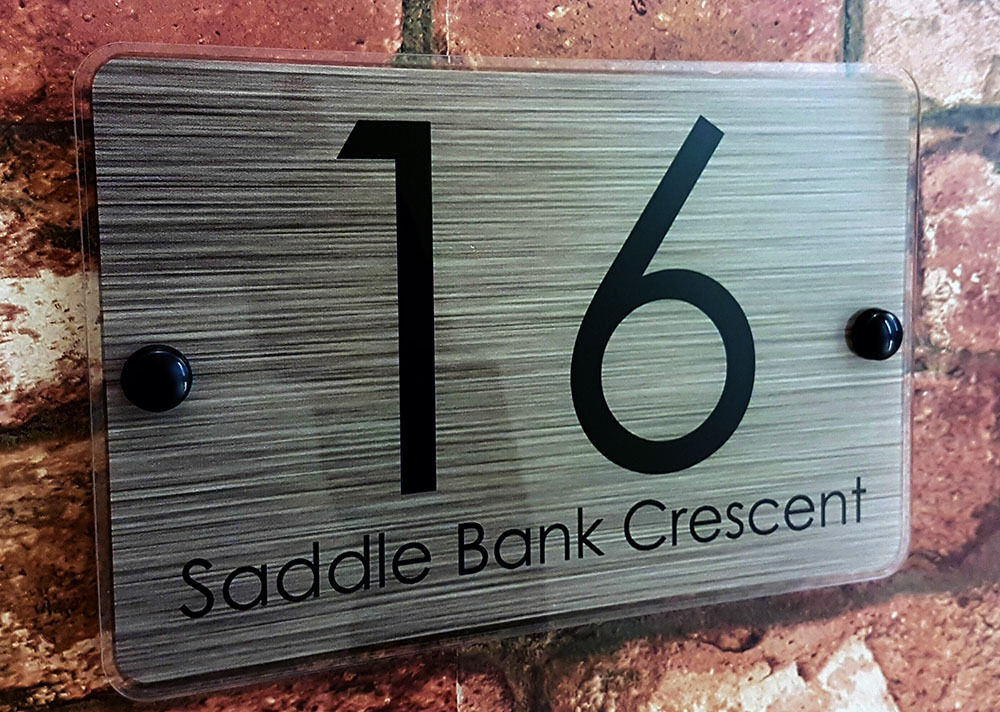 Acrylic house sign plaque door number name ebay for Contemporary house names