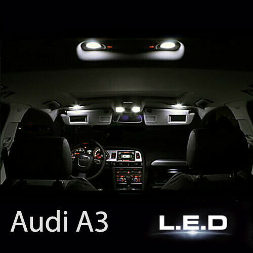 kit clairage ampoules led smd blanc int rieur habitacle pour audi a3 8p ebay. Black Bedroom Furniture Sets. Home Design Ideas