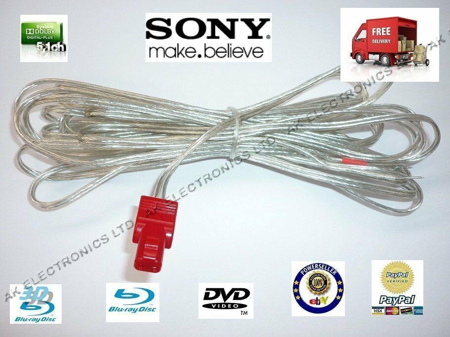 Sony Speaker Wire : Sony home cinema one centre rear front speaker cable lead