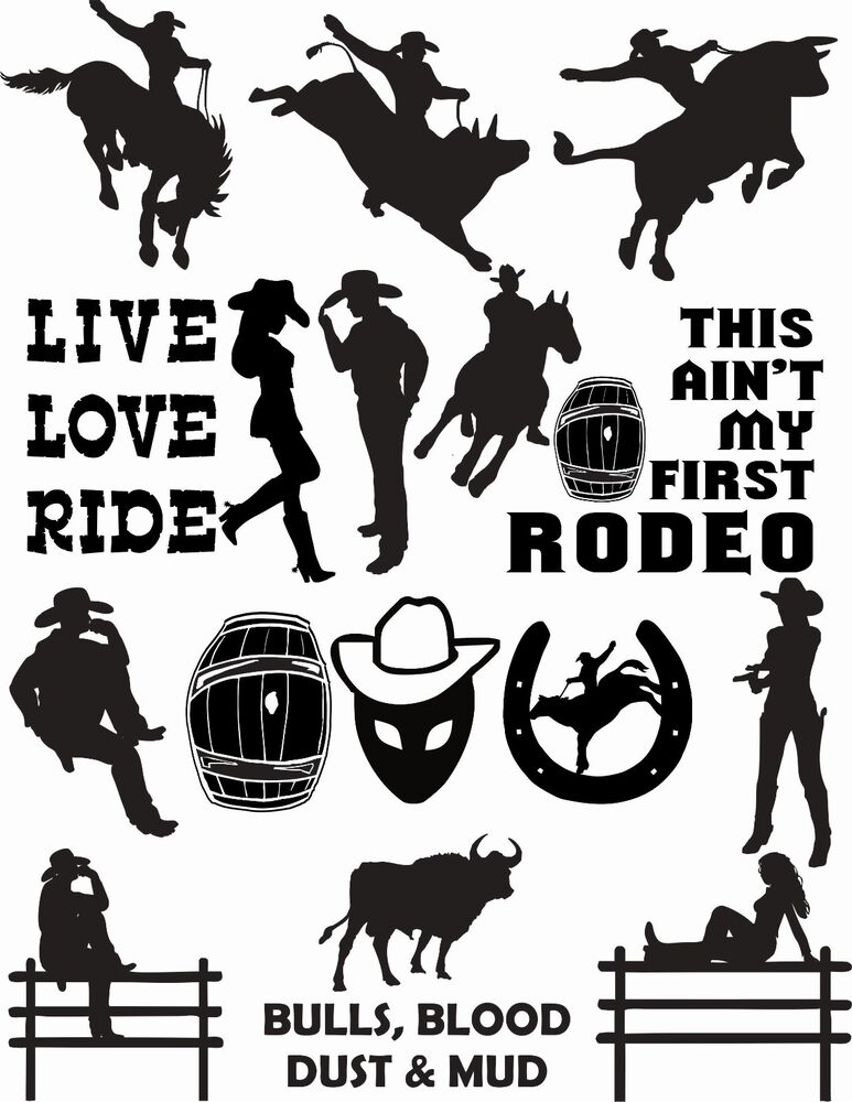 73 Western Country Cowboy Cowgirl Vector Clipart For Vinyl