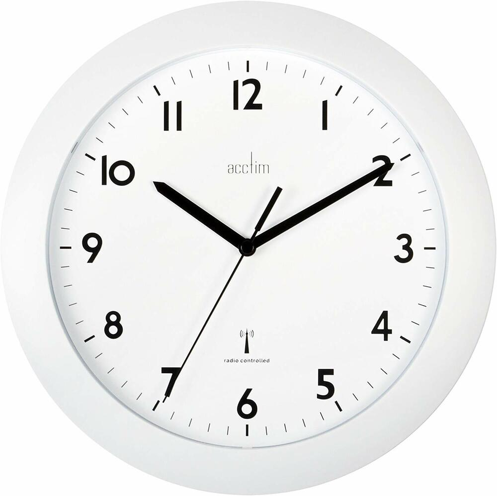Acctim 93 723rc Milan Radio Controlled Wall Clock White