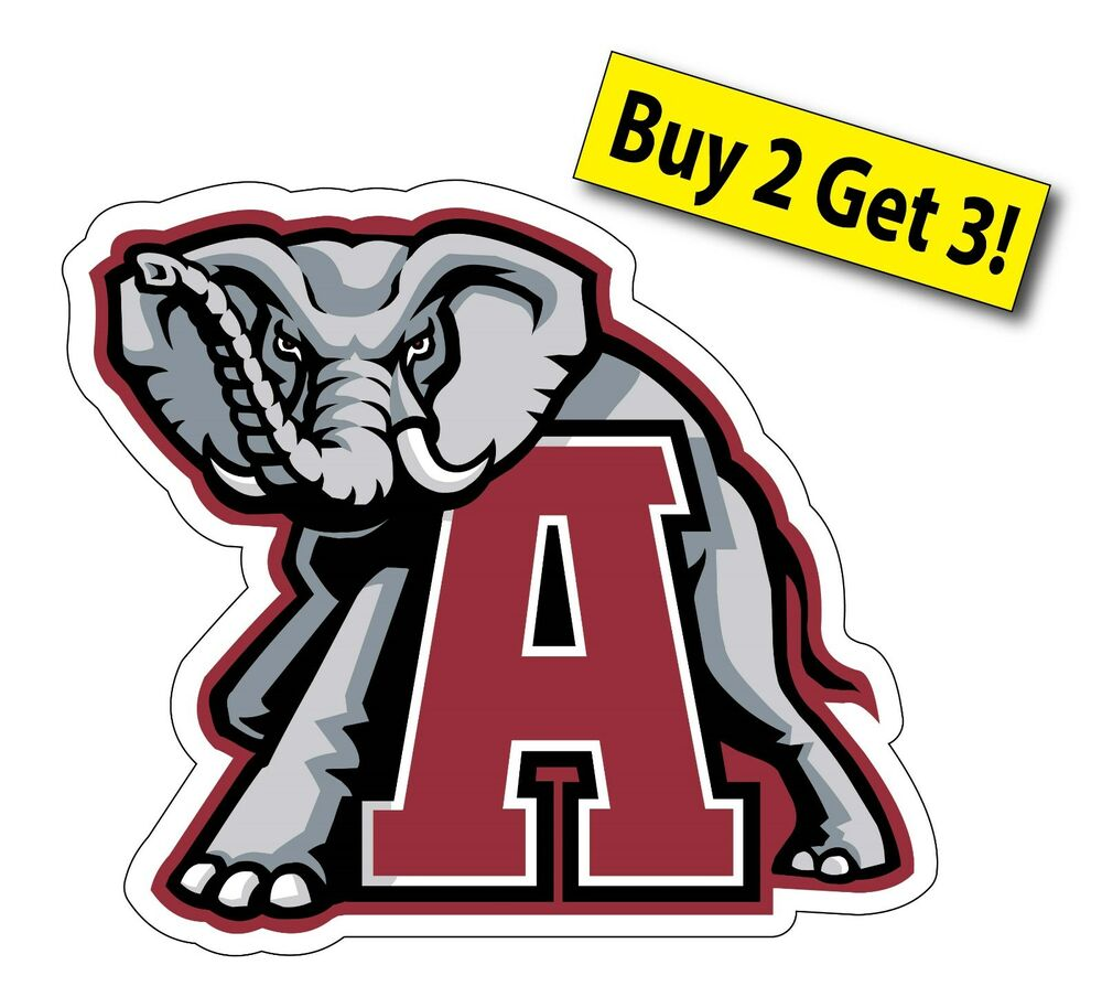 Alabama crimson tide college football sec car sticker for Alabama football mural