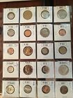 12 Proof & Gem Brilliant Uncirculated Coins in holders 1953-2016 Mix Mint~Proofs