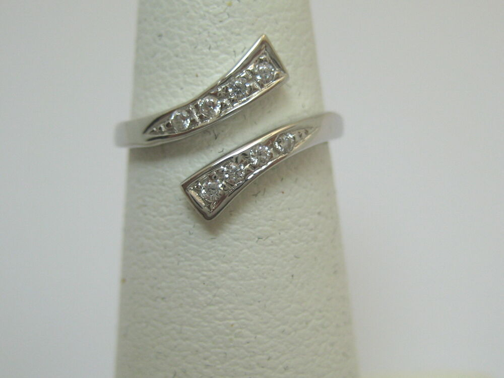 jewelry sterling silver with 8 cz fancy toe ring ebay