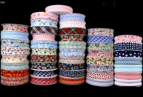 25MM  PATTERNED/FLORAL BIAS BINDING-QUILTING-EDGING-BUNTING-LOTS OF DESIGNS