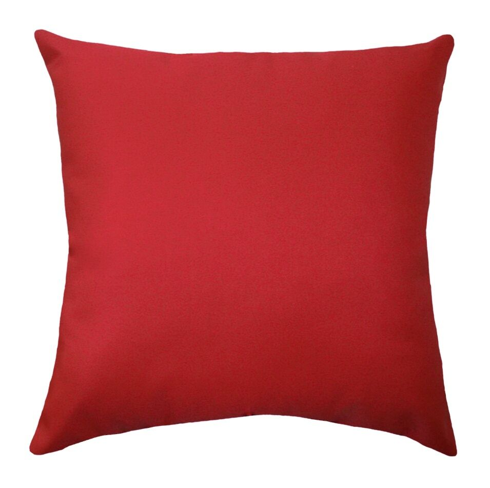 Red OUTDOOR Pillow, Sundeck Cherry Red Solid Outdoor Decorative Throw Pillow eBay