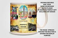 PERSONALISED CANAL BARGE /NARROW BOAT MUG