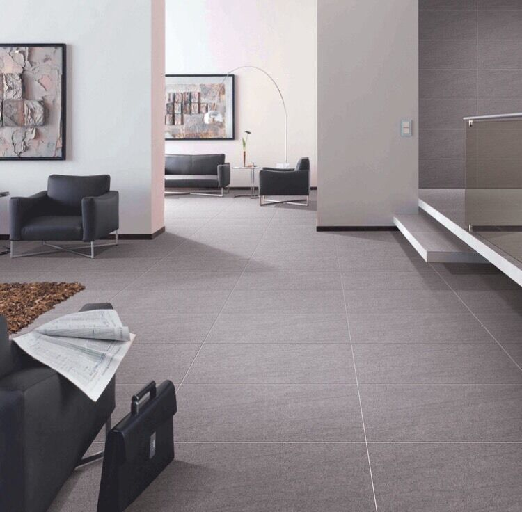 Basaltina Grey Vitrified Porcelain Tiles Matt 600x600